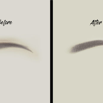 Ombre Latexes munka before after