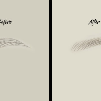 Re'brows before - after munka